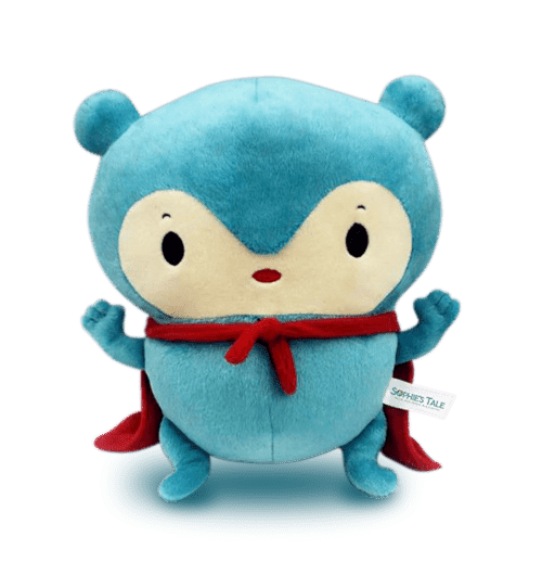 custom stuffed animal bulk Mebo the Blue Panda Book Character