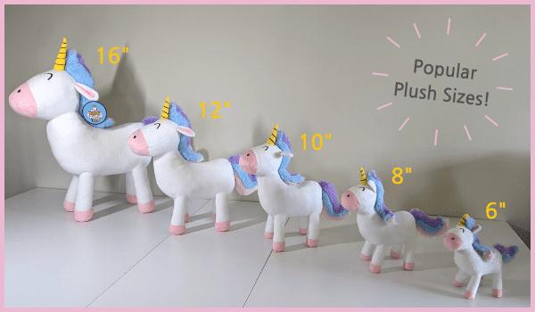 custom bulk plush stuffed animal sizes