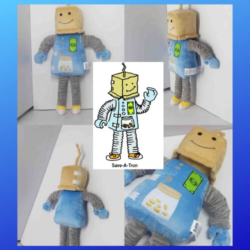 robot mascot plushie review