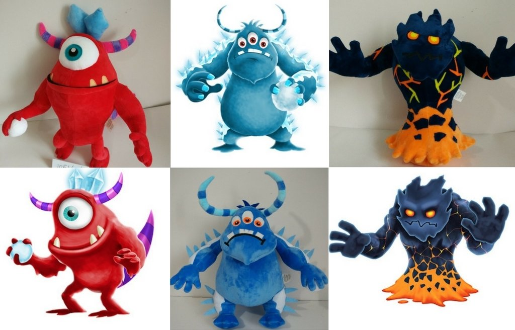 Smart text monster stuffed animals
